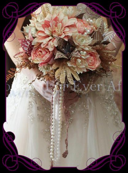 ialmage of alternative origami silk flower wedding bouquet