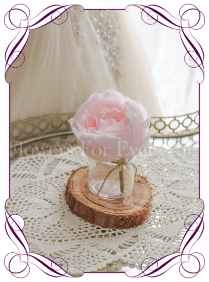 Pink peony silk artificial table decoration