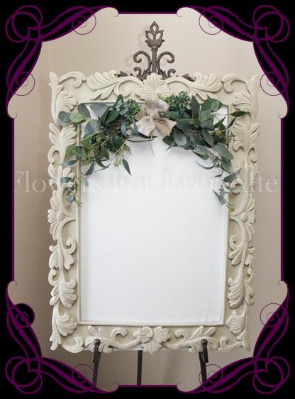 Silk artificial Australian gum foliage wedding event sign garland frame decoration