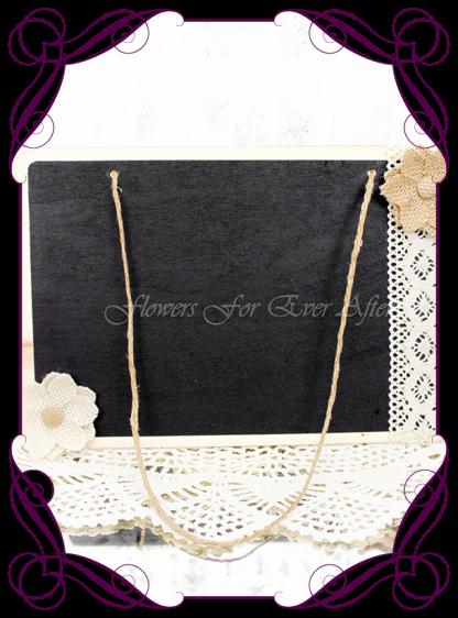silk artificial decorated blackboard chalk board for weddings, page boy , sign board Made in Australia. Buy online. Shipping world wide